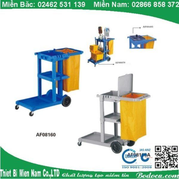 Cung cấp xe đẩy làm vệ sinh bệnh viện chữ L AF08160 3