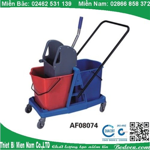 Xe vắt ép nước lau sàn 2 xô AF08074 1