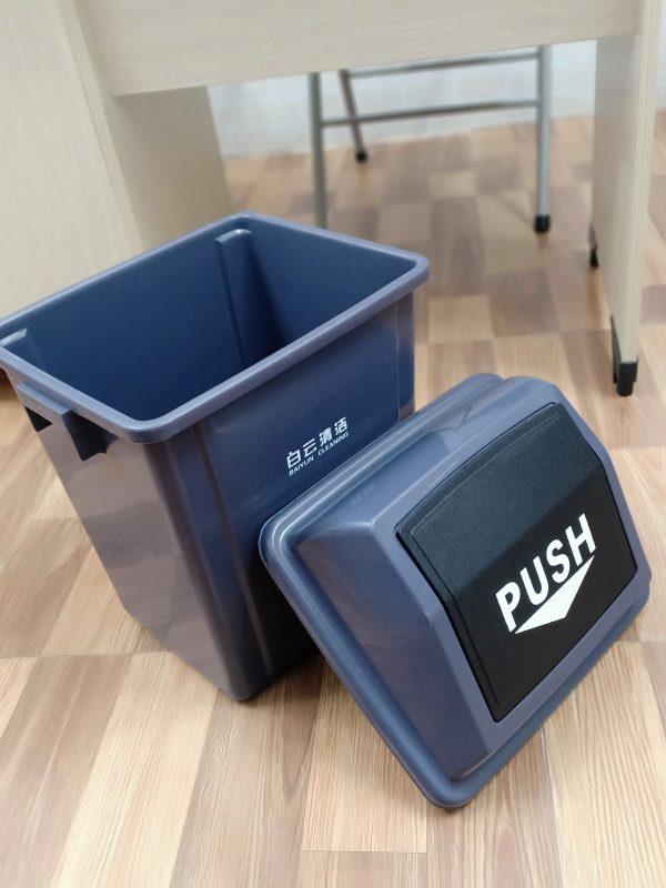 Thùng rác nhựa 100l nắp lật